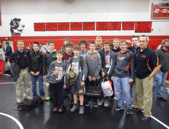 Bobcats Capture Second Place In District Nine AA Junior High Wrestling Championships (02/16/14)