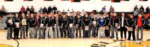 2013 Bobcat Football Team with Jackets