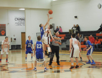 Junior High Boys Basketball A-Team Downs A-C Valley (02/21/14)