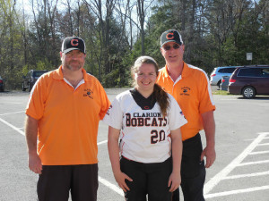 Jessica with Lady Cats Head Coach Dan Shofestall and Assistant Coach Randy Reynolds