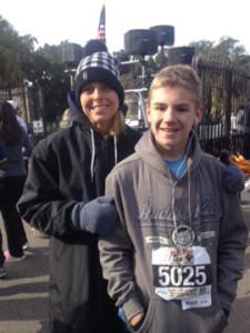 Marshall with his cousin, professional triathlete Caroline Smith