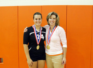 (Photo provided by Thornton family) Matti with Clarion High Volleyball Coach Shari Campbell