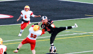 (Photo by G. Chad Thomas) Cody with a great catch against North Catholic in State Semi-Final Game