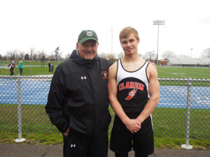 Clarion Head Football Coach, Larry Wiser with Cody