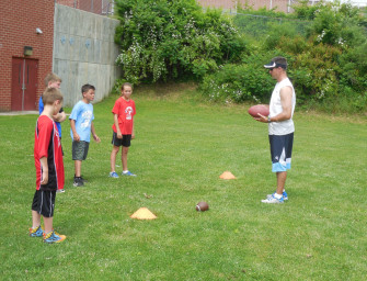 Elementary Football Camp Held (06/19/14)