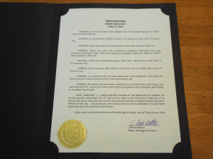 The Official Proclamation