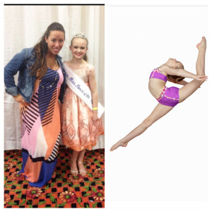Abbey Barron, Petite (Photo submitted by Dancer's Studio) Miss Dance of PA and and teacher, A-Jo Gallagher.