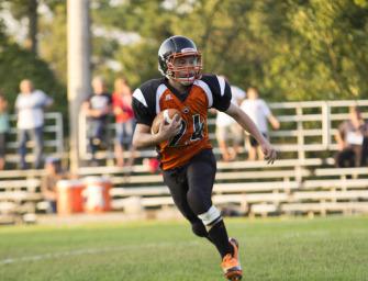 Junior High Football Teams Down St. Marys (09/10/14)