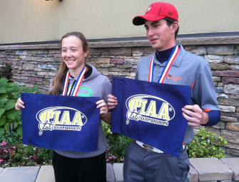 Bobcat Jared Bish Ties For Ninth, Keystone's Amber Hess Finishes Fifth In PIAA State Golf Tournamment (10/23/14)