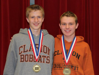 Liam Raehsler Wins District 9 Cross Country Championship, Qualifies For States Along With Adam Bettwy as Bobcats Finish Fourth (10/25/14)