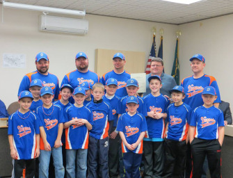 Mayor J. David Walters Honors 8-U Dugout With A Proclamation (12/03/14)