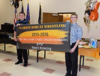 Clarion Wrestling 2014-15 Team Banquet Held At American Legion (04/01/15)