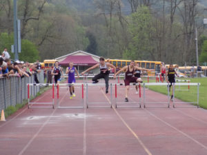 Josh Kriebel placed second in the 300 hurdles