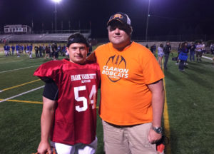 Will and Clarion Area Line Coach Nate McClaine