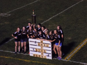 Lady Cats Soccer Team with winning pallet