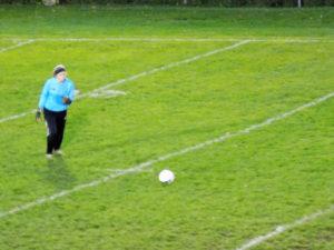 Wendy Beveridge had another stellar night in goal.