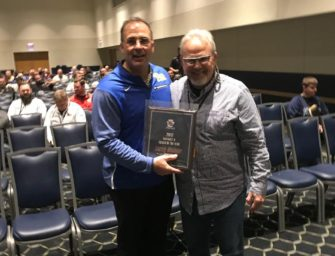 Coach Wiser Receives PSFCA Award (02/24/18)
