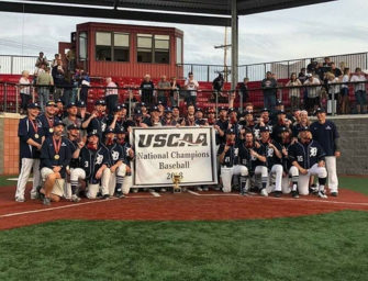 Former Clarion Bobcat Grad Thomas Plummer Sees Action As Penn State DuBois Baseball Team Wins USCAA World Series Title (05/21/18)