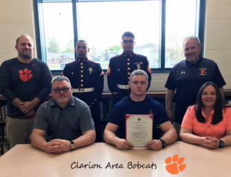 Clarion Area Football And Wrestling Standout Thomas Wurster Joins U.S. Marines (05/22/18)
