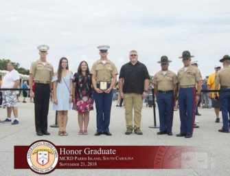 Former Bobcat Football And Wrestling Standout, Thomas Wurster Graduates With Honors At Parris Island (09/26/18)