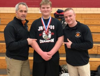 Junior High Grapplers Place 5th In District Nine Tournament, Brock Champluvier Claims Championship, Three Others Place Third (02/09/20)