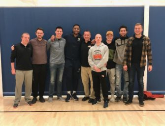 Former Clarion Basketball Coach And Teammates Have Surprise Reunion With Jonathan Smith (02/14/20)