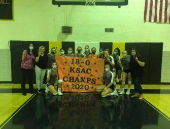 Lady Cat Volleyball Team Downs Venango Catholic, Completes Regular Season 18-0, Wins 20th KSAC Championship, Coach Campbell On Cusp Of Major Milestone (Posted 10/26/20)