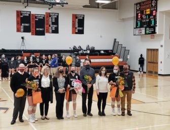 Clarion Area Volleyball Honors Seniors And Parents On Senior Night / Downs Union (Posted 10/21/20)