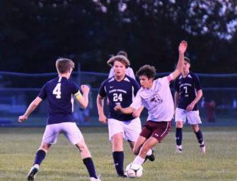 Clarion-Limestone Boys Soccer Downs Ridgway