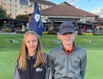 Kameron And McKayla Kerle Finish In Top 15 At PIAA State Class-AA Golf Tournament
